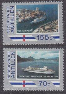 1989 Netherlands Antilles 658-659 Ships 3,40 €