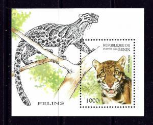 Benin PR 849 MNH 1996 Wild Cats S/S