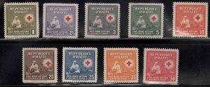 Haiti  Scott 361-369 (9) MNH** Red Cross stamps