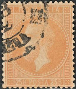 Romania 1872 25b Orange FU