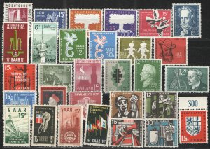 Germany - Saar 1950's Collection MNH/MH F - 1950's Saar issues collection