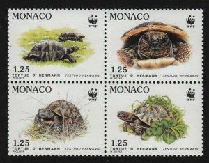 Monaco MNH Block 1781a Turtles WWF SCV 7.00