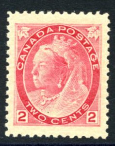 CANADA: Sc.#77  **  2¢ Carmine, Die I, SPECTACULAR example with PERFECT HUGE...