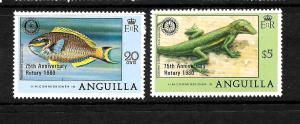 ANGUILLA  1980  ROTARY  SET 2   MNH  Sc 389/90