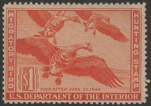 US #RW11 SC $240.00  VF/XF mint never hinged, gum skips, post office fresh co...