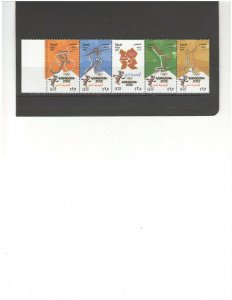 EGYPT: Sc.2088 / **SUMMER OLYMPICS-LONDON** / Strip of 5 / MNH.