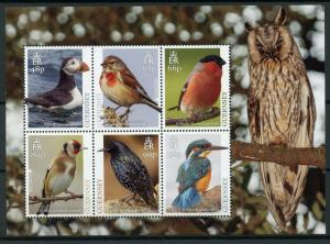 Guernsey 2019 MNH National Birds Europa Kingfishers Puffins 6v M/S Stamps