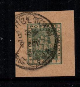 British guiana  envelope stamp used