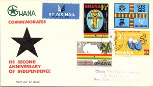 Ghana, Worldwide First Day Cover