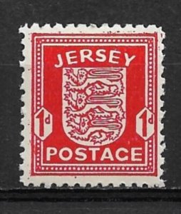 1942 German occupied Jersey N1 1d Coat of Arms MNH
