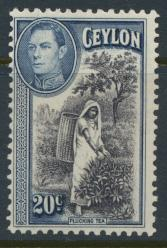 Ceylon SG 391 Mint light trace of hinge  SC# 283   see details