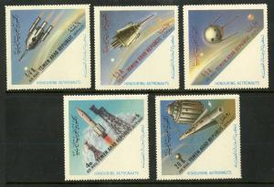 YEMEN C29e-C29i MNH SCV $8.60 BIN $5.00 SPACE SHUTTLES