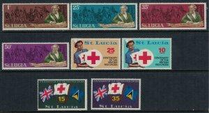 St. Lucia #278-85* NH  CV $2.60