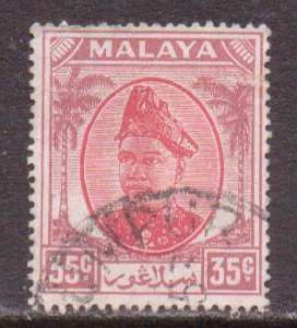 Malaya-Selangor  #100  used  (1952)  c.v. $1.50