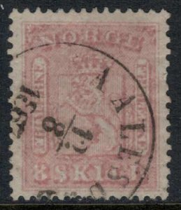 Norway #9  CV $80.00  Aalesund, Norway Aug. 12, 1867 cancellation