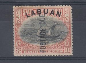 Labuan 1901 8c Postage Due SGD6 Mint MH J5127