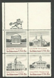 1779-82 American Architecture Zip Block Mint/nh FREE SHIPPING