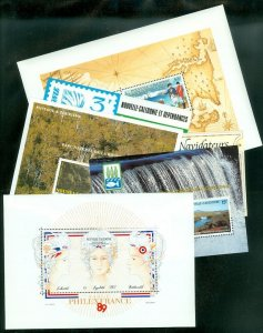 EDW1949SELL : NEW CALEDONIA Collection of 6 Diff. VF, MNH S/S from 1980s Cat $43