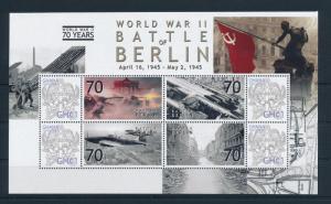 [81152] Ghana 2009 Second World war Battle of Berlin Sheet MNH