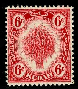 MALAYSIA - Kedah SG56a, 6c carmine-red, LH MINT. Cat £12.