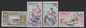 LAOS SC#  48-51   FVF/MNH 1958