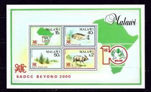 Malawi 473a MNH 1990 souvenir sheet