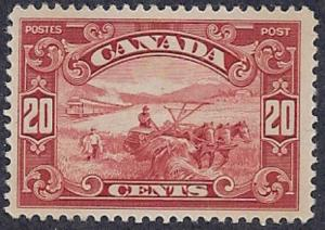 Canada - 1929 20c Harvesting Wheat,  VLH Scott #157 CV $65