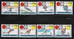 Rwanda 436-43 Winter Olympic Sports Mint NH