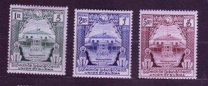 J23700 JLstamps 1948 burma hv,s of set #99-101 memorial