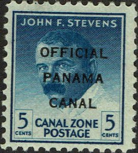 CANAL ZONE #O9 1947 OFFICIAL CANAL ZONE OVERPRINT ON 5 CENT REGULAR ISSUE-MINT