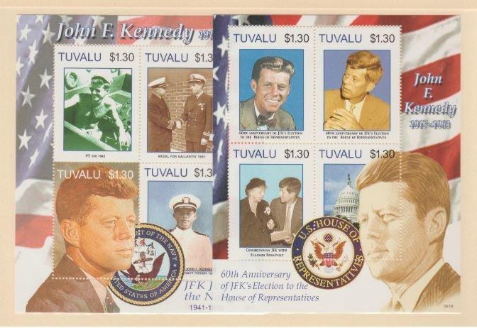 Tuvalu Scott #1007-1008 Stamps - Mint NH Souvenir Sheet Set