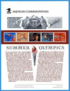 USPS COMMEMORATIVE PANEL #368 SUMMER OLYMPICS #2553-57