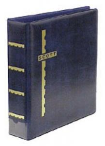 Blue Scott Stamp Cover Album 3-Ring Binder & Pack of 25 Black Cover Pages
