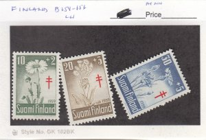 J25983  jlstamps 1959 finland set mlh #b154-6 flowers , all checked