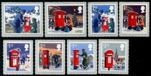 HERRICKSTAMP GREAT BRITAIN Sc.# 3793-3800 Christmas 2018 Self-Adhesive