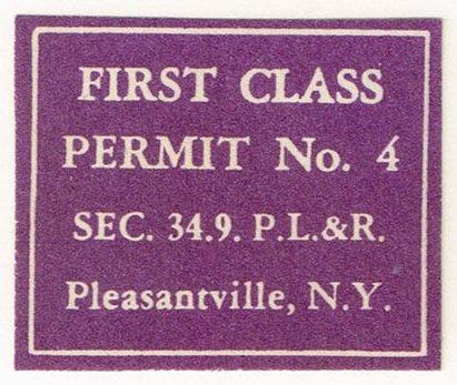 First Class Permit Cut Square