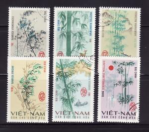 North Vietnam 449-454 Set U Plants, Bamboo (A)