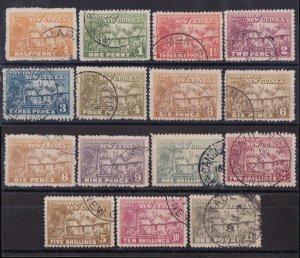 NEW GUINEA 1925 Huts set ½d-£1 GENUINE USED