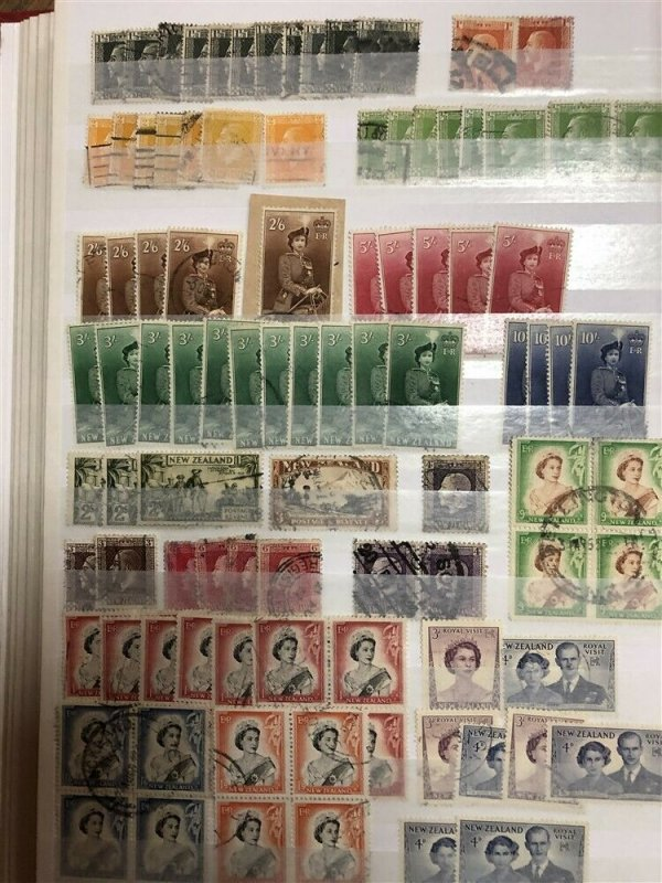 NEW ZEALAND; 1880s-1950s ACCUMULATION fine mixed Mint & used LOT 100s