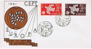 SPAIN 1961 EUROPA FDC