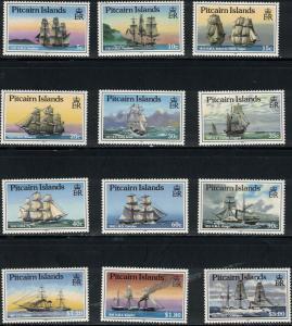 Pitcairn Islands 319a-d VisitingShips-Swallow-Bristol-Blossom1767-1893 MNH 1988