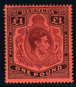 BERMUDA SC# 128a SG# 121 MINT HINGED AS SHOWN