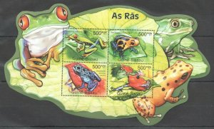 BC660 2011 GUINEA-BISSAU FAUNA REPTILES & AMPHIBIANS FROGS AS RAS KB MNH