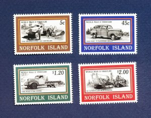 NORFOLK ISLAND - 581-584  - VF MNH -  WWII Truck, Car - 1995