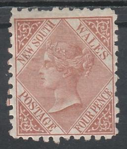 NEW SOUTH WALES 1882 QV 4D WMK CROWN/NSW SG TYPE W40 PERF 10