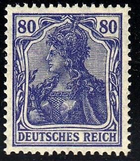 Germany #128 Germania, Almost Perfect Centering