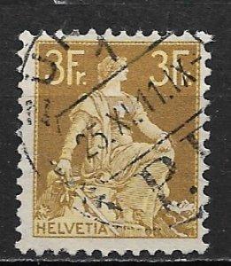 1908 Switzerland Sc145 3F Seated Helvetia used