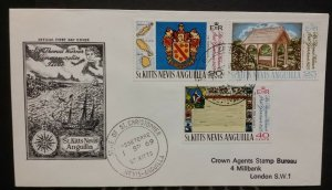 St Kitts Nevis Anguilla 1969 FDC Sir Thomas Warner First Governor