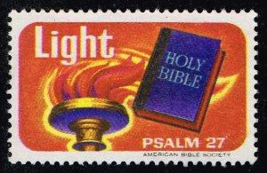 US STAMP CHRISTIAN LABEL STAMP LIGHT PSALM 27