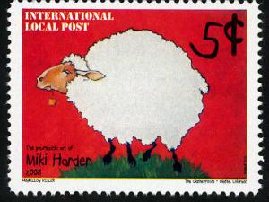 Phuntastic Art of Miki Harder (#2) Intl. Local Post Stamp